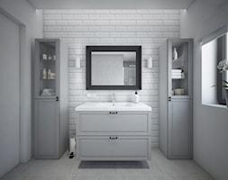 Classic always fashionable - Średnia biała łazienka w bloku w domu jednorodzinnym z oknem, styl kla ... - zdjęcie od TEMA Architekci - Homebook
