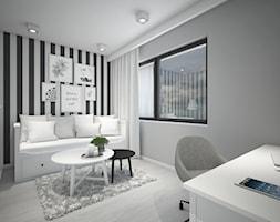Classic always fashionable - Średnie czarne szare białe biuro kącik do pracy w pokoju, styl klasycz ... - zdjęcie od TEMA Architekci - Homebook