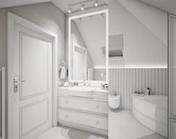Classic beauty - Średnia szara łazienka na poddaszu w bloku w domu jednorodzinnym z oknem, styl kla ... - zdjęcie od TEMA Architekci - Homebook