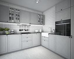 Classic always fashionable - Średnia zamknięta biała kuchnia w kształcie litery l z oknem, styl kla ... - zdjęcie od TEMA Architekci - Homebook