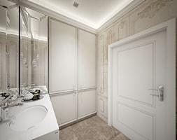 Classic beauty - Mała szara łazienka w bloku w domu jednorodzinnym bez okna, styl klasyczny - zdjęcie od TEMA Architekci