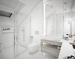Classic beauty - Średnia szara łazienka na poddaszu w domu jednorodzinnym z oknem, styl klasyczny - zdjęcie od TEMA Architekci - Homebook