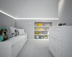 Classic always fashionable - Mały biały szary pokój dziecka dla chłopca, styl klasyczny - zdjęcie od TEMA Architekci