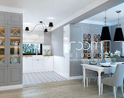 Dom jednorodzinny na Psim Polu, Wrocław - Jadalnia, styl nowojorski - zdjęcie od ROOM STUDIO