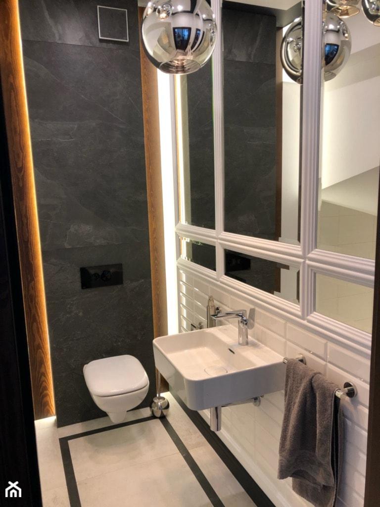 Metamorfoza małej łazienki - Łazienka, styl nowojorski - zdjęcie od ROOM STUDIO