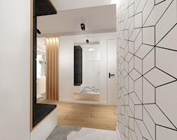Mieszkanie w Poznaniu - Średni biały hol / przedpokój, styl nowoczesny - zdjęcie od ROOM STUDIO