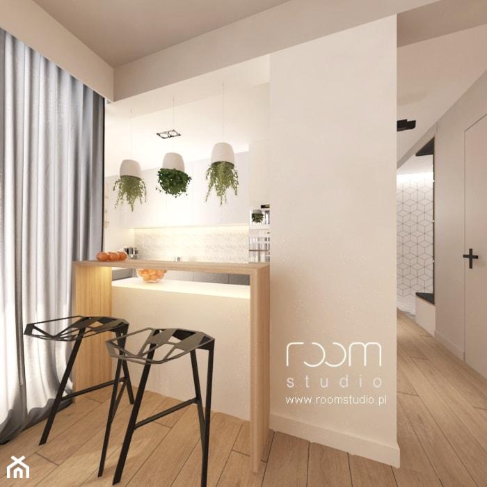 Mieszkanie w Poznaniu - Kuchnia, styl skandynawski - zdjęcie od ROOM STUDIO