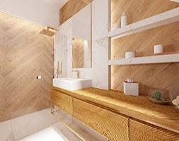 Dom na Stabłowicach - Średnia biała łazienka bez okna, styl nowoczesny - zdjęcie od ROOM STUDIO - Homebook