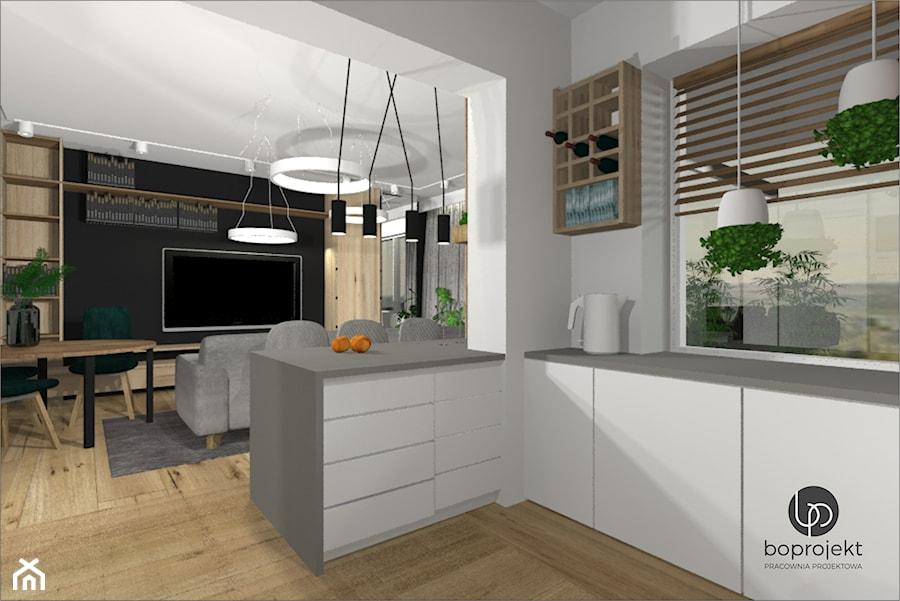 Kuchnia z wyspą - zdjęcie od BOPROJEKT Pracownia Projektowa