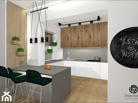 Aranżacje wnętrz - Kuchnia: Kuchnia z wyspą - BOPROJEKT Pracownia Projektowa . Przeglądaj, dodawaj i zapisuj najlepsze zdjęcia, pomysły i inspiracje designerskie. W bazie mamy już prawie milion fotografii!