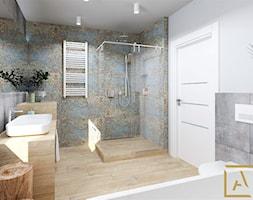 Łazienka - Kępno - Średnia szara łazienka w bloku w domu jednorodzinnym bez okna, styl nowoczesny - zdjęcie od ARCHISTIK Studio Projektowe - Homebook