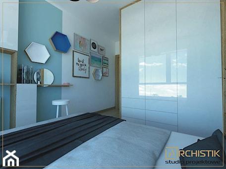 Aranżacje wnętrz - Sypialnia: M3 - Wrocław - Wysoka - Średnia kolorowa sypialnia dla gości, styl skandynawski - ARCHISTIK Studio Projektowe. Przeglądaj, dodawaj i zapisuj najlepsze zdjęcia, pomysły i inspiracje designerskie. W bazie mamy już prawie milion fotografii!