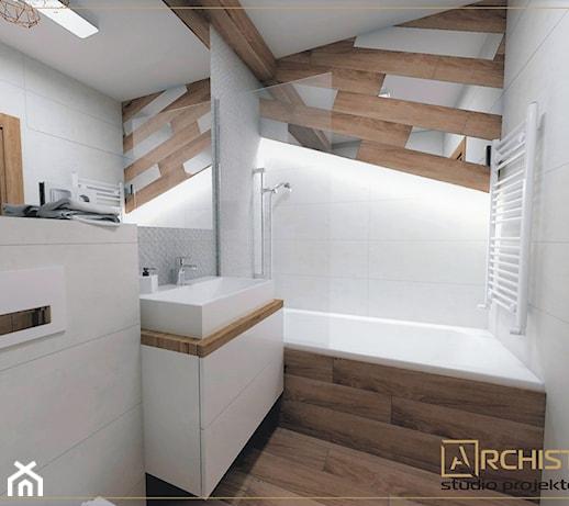 Mała łazienka Na Poddaszu Z Prysznicem Pomysły Inspiracje Z Homebook