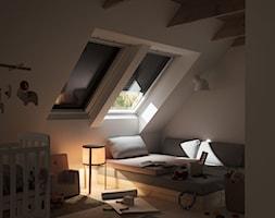 Rolety zewnętrzne - Pokój dziecka, styl minimalistyczny - zdjęcie od VELUX - Homebook