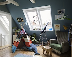 Okna dachowe w zestawach - Średni turkusowy pokój dziecka dla chłopca dla dziewczynki dla malucha, styl eklektyczny - zdjęcie od VELUX