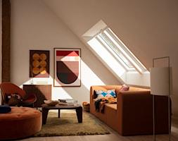 Poddasze - Inspiracje VELUX - Salon, styl vintage - zdjęcie od VELUX - Homebook