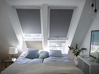 Sypialnia na poddaszu - inspiracje VELUX