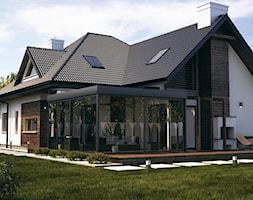 WIZUALIZACJE 2 - Duży ogród za domem, styl klasyczny - zdjęcie od ALPINA Ogrody zimowe ,. oranżerie, zadaszenia, szkło architektoniczne