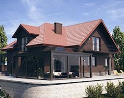 WIZUALIZACJE 2 - Duży taras z tyłu domu, styl klasyczny - zdjęcie od ALPINA Ogrody zimowe ,. oranżerie, zadaszenia, szkło architektoniczne