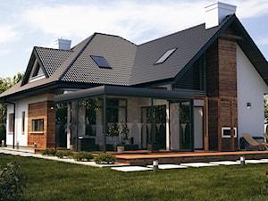 wizualizacje 2 - Duży ogród za domem, styl tradycyjny - zdjęcie od ALPINA Ogrody zimowe ,. oranżerie, zadaszenia, szkło architektoniczne