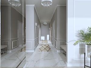 Salon w stylu nowojorskim - Duży biały szary hol / przedpokój, styl nowojorski - zdjęcie od Happy Home