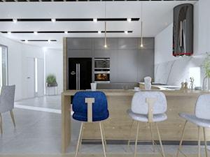 Salon z kuchnią w nowoczesnym stylu