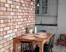Lico ceglane Gotyckie w jadalni - zdjęcie od Retrocegla.pl