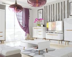 Zestaw białych mebli do salonu Nirus IV - zdjęcie od MIRJAN24.pl