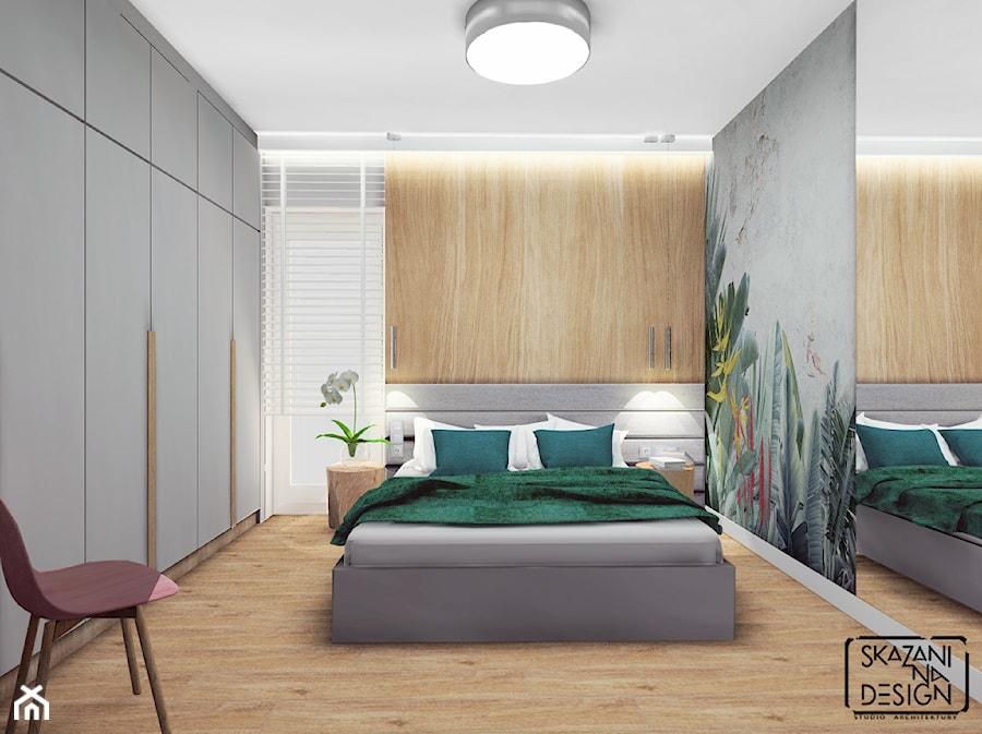 DOM RYBNIK - Średnia szara sypialnia małżeńska, styl nowoczesny - zdjęcie od SKAZANI NA DESIGN Studio Architektury