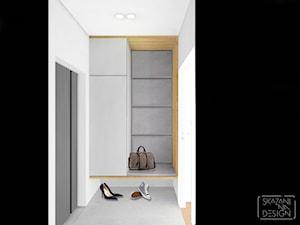 DOM RYBNIK - Mały szary hol / przedpokój, styl nowoczesny - zdjęcie od SKAZANI NA DESIGN Studio Architektury