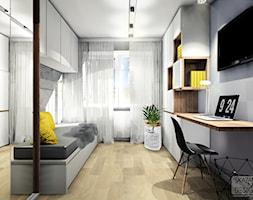Domowe biuro z kącikiem do snu i odpoczynku - zdjęcie od SKAZANI NA DESIGN Studio Architektury