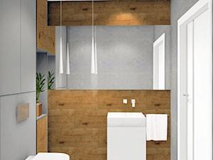 mała toaleta w domu jednorodzinnym - zdjęcie od SKAZANI NA DESIGN Studio Architektury