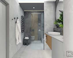 MIESZKANIA GLIWICE III - Średnia szara łazienka bez okna, styl nowoczesny - zdjęcie od SKAZANI NA DESIGN Studio Architektury