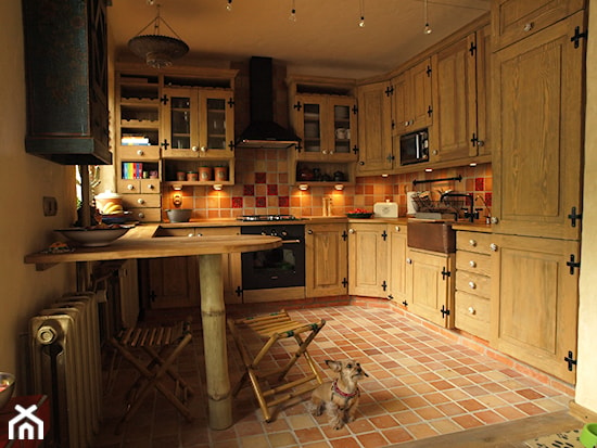 moje domowe inspiracje;)  Ideabook użytkownika Marlena   -> Kuchnia Tapeta Cegla