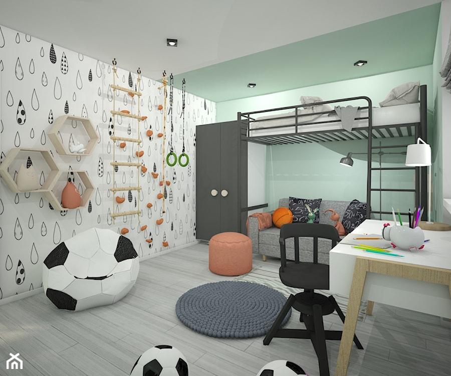 Aranżacje wnętrz - Pokój dziecka: Pokój dla dziecka - Średni zielony kolorowy pokój dziecka dla chłopca dla dziewczynki dla ucznia dla malucha dla nastolatka, styl skandynawski - Wnętrza od NOWA. Przeglądaj, dodawaj i zapisuj najlepsze zdjęcia, pomysły i inspiracje designerskie. W bazie mamy już prawie milion fotografii!