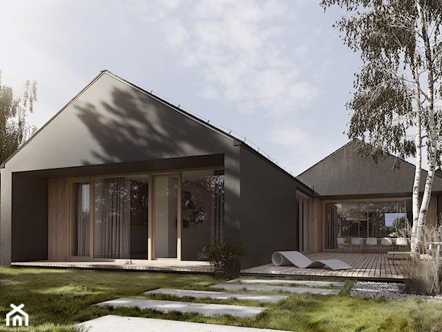 Dom z Tarasami - dach skośny
