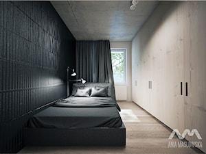 mieszkanie 60 m2 - Duża sypialnia małżeńska, styl minimalistyczny - zdjęcie od Ania Masłowska