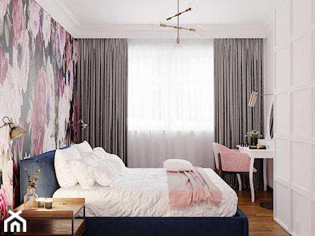 Aranżacje wnętrz - Sypialnia: Stylowe mieszkanie - Średnia biała sypialnia małżeńska, styl eklektyczny - Architektura wnętrz Sylwia Woch. Przeglądaj, dodawaj i zapisuj najlepsze zdjęcia, pomysły i inspiracje designerskie. W bazie mamy już prawie milion fotografii!