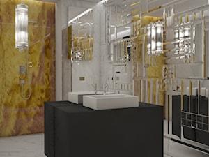 W krainie luster - Duża łazienka w bloku w domu jednorodzinnym bez okna, styl nowoczesny - zdjęcie od Architektura wnętrz Sylwia Woch