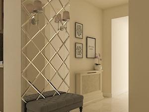 Wnętrza w ciepłym, eleganckim klimacie - Średni beżowy hol / przedpokój, styl eklektyczny - zdjęcie od Architektura wnętrz Sylwia Woch