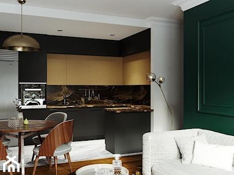 Aranżacje wnętrz - Kuchnia: Stylowe mieszkanie - Średnia otwarta szara czarna kuchnia w kształcie litery u w aneksie, styl eklektyczny - Architektura wnętrz Sylwia Woch. Przeglądaj, dodawaj i zapisuj najlepsze zdjęcia, pomysły i inspiracje designerskie. W bazie mamy już prawie milion fotografii!