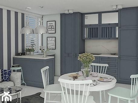 Aranżacje wnętrz - Kuchnia: Jadalnia i kuchnia - Architektura wnętrz Sylwia Woch. Przeglądaj, dodawaj i zapisuj najlepsze zdjęcia, pomysły i inspiracje designerskie. W bazie mamy już prawie milion fotografii!
