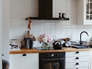 DEER HOME: okap Nomina 90 Black w kuchni projektu @deer_home