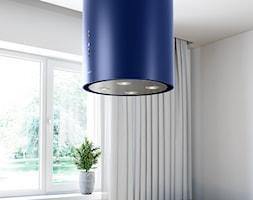 Niebieski okap w kształcie tuby GLOBALO Cylindro Isola Blue - zdjęcie od GLOBALO.PL - Ciche i wydajne okapy kuchenne - Homebook