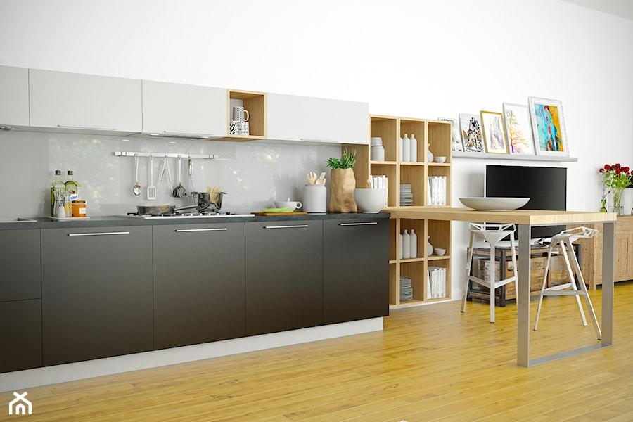 Mała kuchnia z okapem do zabudowy Lofetti połączona z   -> Kuchnia Z Okapem