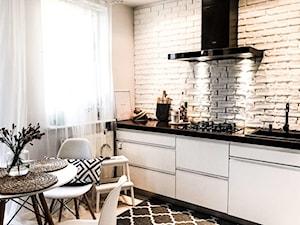 Projekt biało czarnej kuchni od Mieszkanie Marzeń