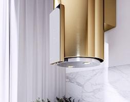 Złoty okap Roxano Light Gold do kuchni w stylu glamour - zdjęcie od GLOBALO.PL - Ciche i wydajne okapy kuchenne - Homebook