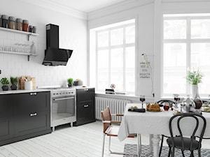 Biała Rustykalna Kuchnia Z Okapem Globalo Womero 60.1 Black