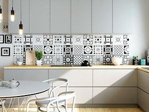 Modernistyczna kuchnia w mieszkaniu z okapem Agendero 80