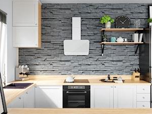 Kuchnia W Kamieniu Z Okapem Wrotma 60.1 White